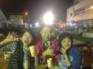 小峰公子、清水いわき市長、白崎映美